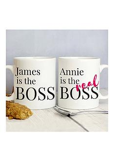 personalised-the-real-boss-mug-set