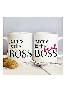 personalised-the-real-boss-mug-set