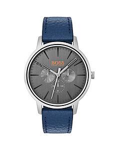 hugo-boss-orangenbspcopenhagen-grey-dial-blue-leather-strap-mens-watch