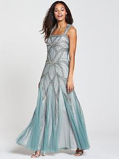 frock-and-frill-bradinbspembellished-sequin-maxi-dress-blue