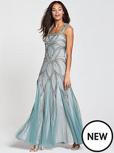frock-and-frill-bradinbspembellished-sequin-maxi-dress-blue