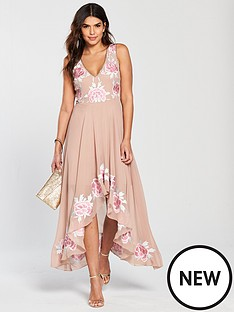 frock-and-frill-bertha-embroidered-high-low-skater-dress