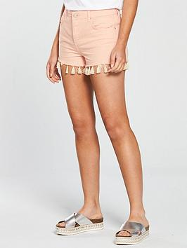 miss-selfridge-mom-tassel-hem-denim-short-pink