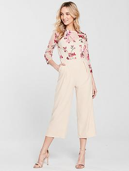Beige Jumpsuit Embroidered  Mistress Little Top Outlet Fashionable 6LceIDnYh
