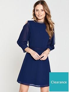 little-mistress-frill-sleeve-shift-dress-navy
