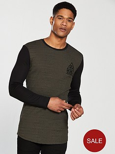 river-island-ls-muscle-fit-ribbed-tshirt