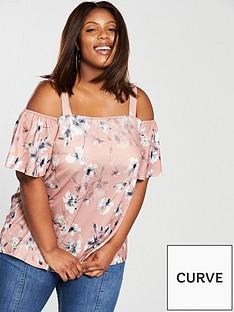 v-by-very-curve-printed-bardot-top-blush-pink