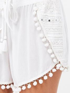 Buy Cheap Footlocker New Online Pom Pom Shorts nbsp nbsp Trim  White Accessorize Sale Hot Sale Cheap Sale 2018 h39Ub