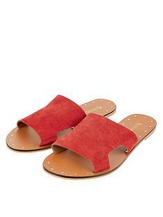 d2cc17acca958 Accessorize Ellen Suede Slider Sandals - Red