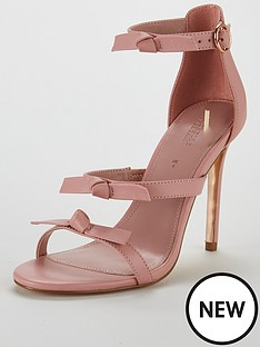 michelle-keegan-leather-bow-trim-minimal-sandal-pale-pink