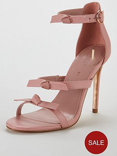 michelle-keegan-leather-bow-trim-minimal-sandal-pale-pink