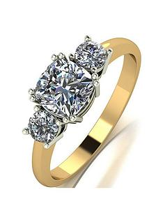 moissanite-the-royal-trilogy-9ct-gold-cushion-centre-14ctnbsptotal-equivalentnbspmoissanite-ring