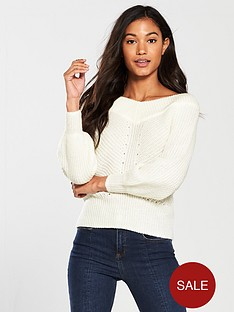 miss-selfridge-bardot-knitted-jumper