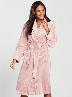 V by Very Super Soft Long Sleeve Dressing Gown - Blush 919dfae03