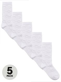 v-by-very-5-pack-girls-knee-lengthnbspsocks-white