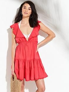 v-by-very-tiered-skirt-dobby-beach-sundress-watermelon