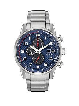 a90073e8c70 Citizen Eco-Drive Primo Chronograph Blue Dial Stainless Steel Bracelet Mens  Watch