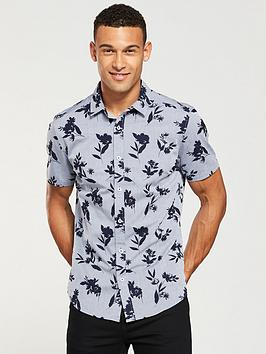v-by-very-slim-fit-short-sleeved-floral-shirt-chambray
