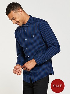 v-by-very-regular-fit-long-sleeved-mini-check-shirt