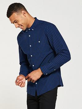 v-by-very-regular-fit-long-sleeved-mini-check-shirt