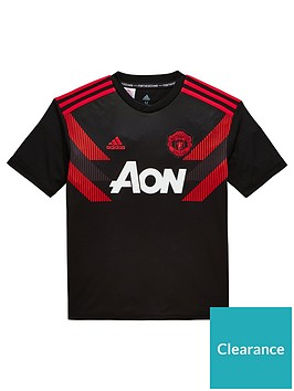 d1fe2cf51 adidas Youth Manchester United Pre-Match Jersey - Black Red ...