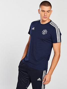 Best Seller For Sale 3 Mens Adidas Manchester United adidas Tee Stripe Pay With Visa For Sale Best Prices Cheap Price Cheap Discounts 1euQFQc