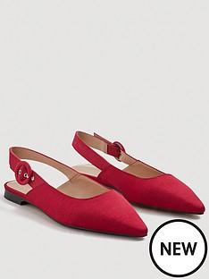 mango-dakota-slingback-flat-pointed-shoes-geranium