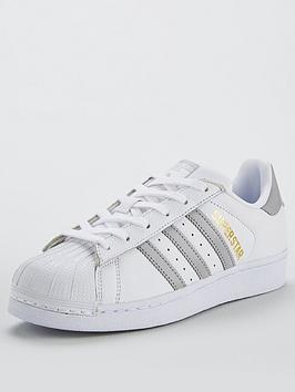 adidas Originals Superstar - White Silver  bf4993ea9