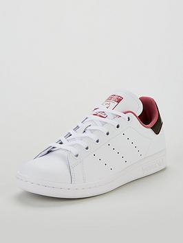 adidas Originals Stan Smith Junior Trainer - White Burgundy ... af906e05f