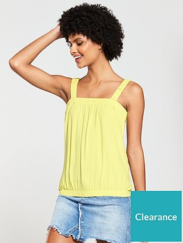 v-by-very-bubble-hem-vest-top-yellow