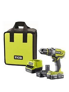 ryobi-r18pd31-213s-18v-one-cordless-compact-combi-drill-starter-kit-2-x-13ah