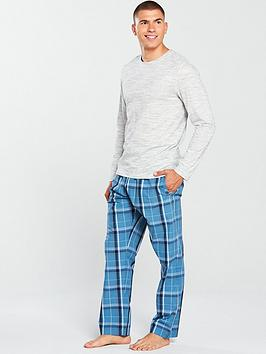 v-by-very-v-by-very-ls-jersey-top-amp-check-bottoms-loungewear-set