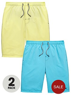 v-by-very-boys-2-packnbspswimshortsnbsp-nbspturquoiseyellow