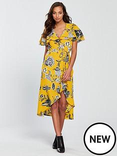river-island-floral-wrap-dress-yellownbsp