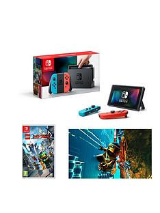 nintendo-switch-neon-red-neon-blue-console-with-legonbspninjago-the-movie-the-game
