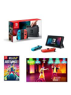 nintendo-switch-neon-red-neon-blue-console-with-just-dance-2018