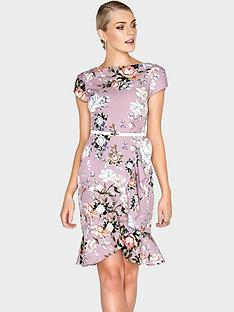 paper-dolls-pretty-rose-fluted-frill-dress