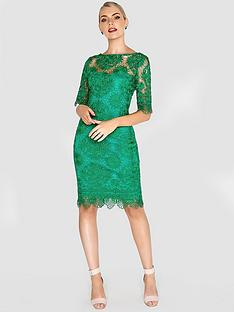 paper-dolls-crochet-detail-lace-dress-green