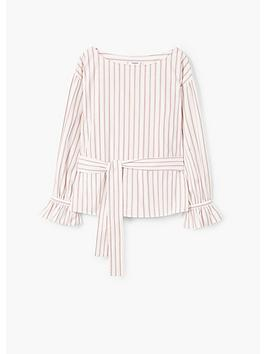 Mango nbsp Pink  Fluted Sleeve Striped Blouse Lichi nbsp Sneakernews Cheap Price Cheap Marketable Online Cheap Quality Clearance Good Selling Sale Excellent PldVhAoMW