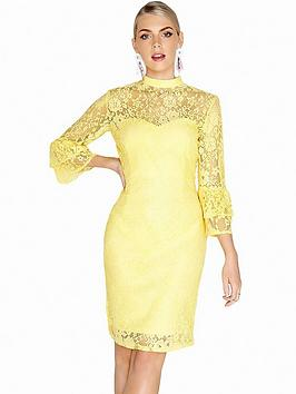 View Sale Online Sleeve Lace High Dress Tiered Fluted Neck Dolls Paper Discount Good Selling Amazon 63kl88fxtj