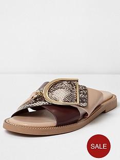 river-island-snake-cross-buckle-strap-sandal-pink