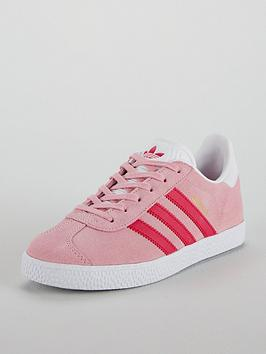 official photos 4373c 15a1c adidas Originals Gazelle Junior Trainer - Pink  littlewoodsi