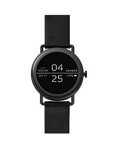 skagen-skagen-display-touchscreen-smartwatch-stainless-steel-black-leather-strap