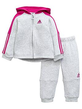 adidas-baby-girls-logo-suit-grey-heathernbsp