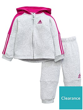 adidas-baby-girls-logo-suit-grey-heathernbsp