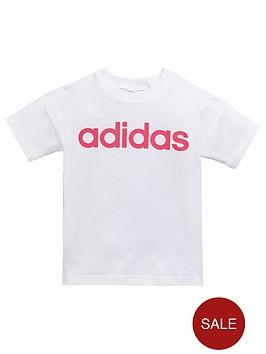 adidas-younger-girls-linear-tee-whitenbsp