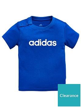 f92ac454a9e adidas Baby Boys T-shirt - Blue   littlewoodsireland.ie