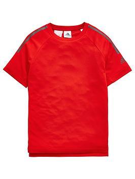 adidas-boys-cool-tee-red