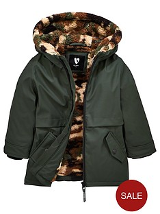 mini-v-by-very-boys-long-line-camouflagenbspfleece-lined-coat-khaki