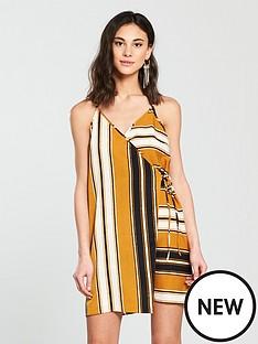 river-island-river-island-stripe-wrap-cami-dress--yellow